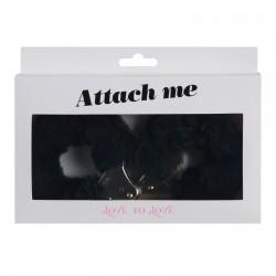 LOVE TO LOVE menottes en fourrure noire ATTACH ME. La Clef des Charmes, lovesho, lingerie Toulouse