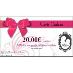 CARTE CADEAU 20€. La Clef des Charmes, Loveshop Toulouse