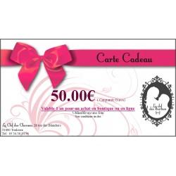 CARTE CADEAU 50€. La Clef des Charmes, Loveshop Toulouse