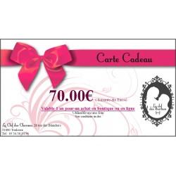 CARTE CADEAU 70€. La Clef des Charmes, Loveshop Toulouse