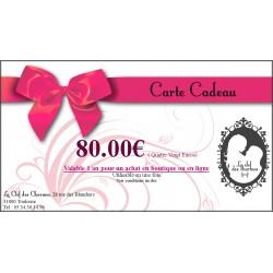 CARTE CADEAU 80€. La Clef des Charmes, Loveshop Toulouse