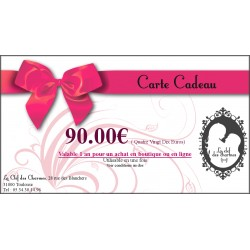CARTE CADEAU 90€. La Clef des Charmes, Loveshop Toulouse