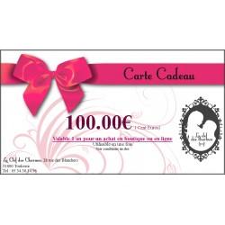 CARTE CADEAU 100€. La Clef des Charmes, Loveshop Toulouse