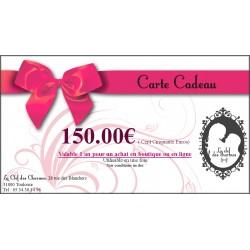 CARTE CADEAU 150€. La Clef des Charmes, Loveshop Toulouse