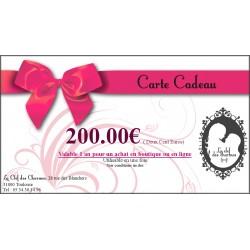 CARTE CADEAU 200€. La Clef des Charmes, Loveshop Toulouse
