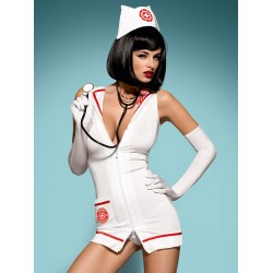 Obsessive Lingerie EMERGENCY DRESS Costume Infirmière Sexy. La Clef des Charmes