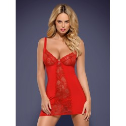 Obsessive Nuisette sexy Rouge HEARTINA. La Clef des Charmes Lovestore
