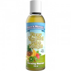 Vince & Michael's Flavored Hot Massage Oil Fizzy Tropical Wine Delight 150 ml