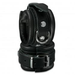 XX-DREAMSTOYS Black Leather Handucuffs