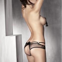 ANAIS APPAREL Culotte ouverte PERMISSION dentelle Noire, Lingerie sexy