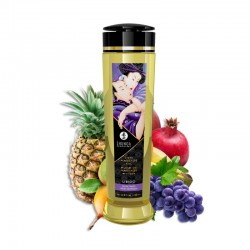 Huile de Massage Erotique LIBIDO Fruits Exotiques - La Clef des Charmes
