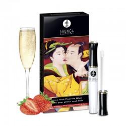Gloss DIVIN ORAL PLEASURE Vin Pétillant Fraise - La Clef des Charmes