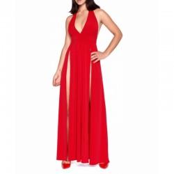 ISABELLA Robe Longue Dos Nu Rouge